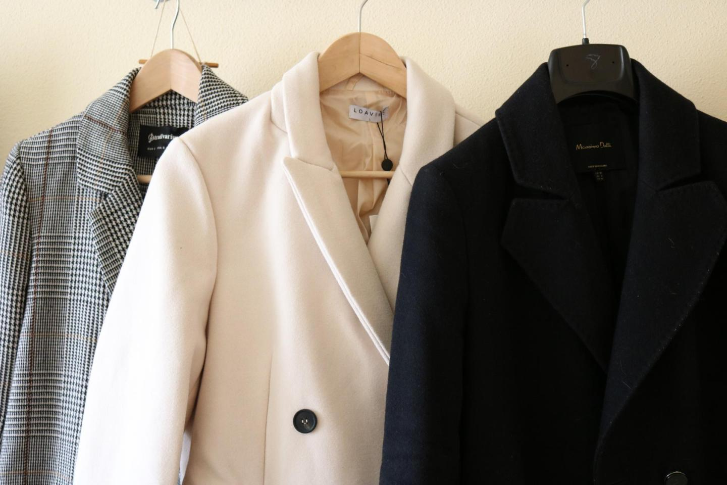 Reorganizing the coats and blazers like Marie Kondo