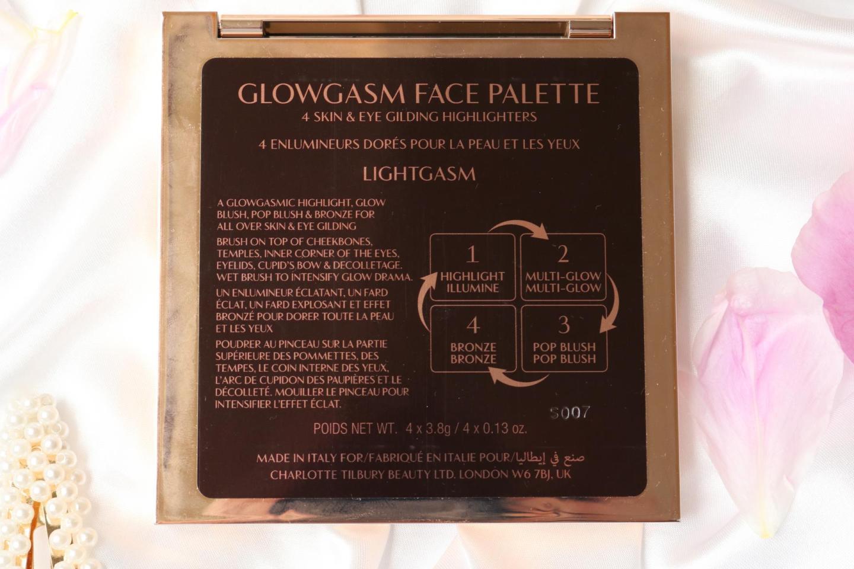 Charlotte Tilbury Glowgasm Face Palette back