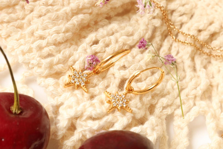 gouden oorbellen eline rosina north star