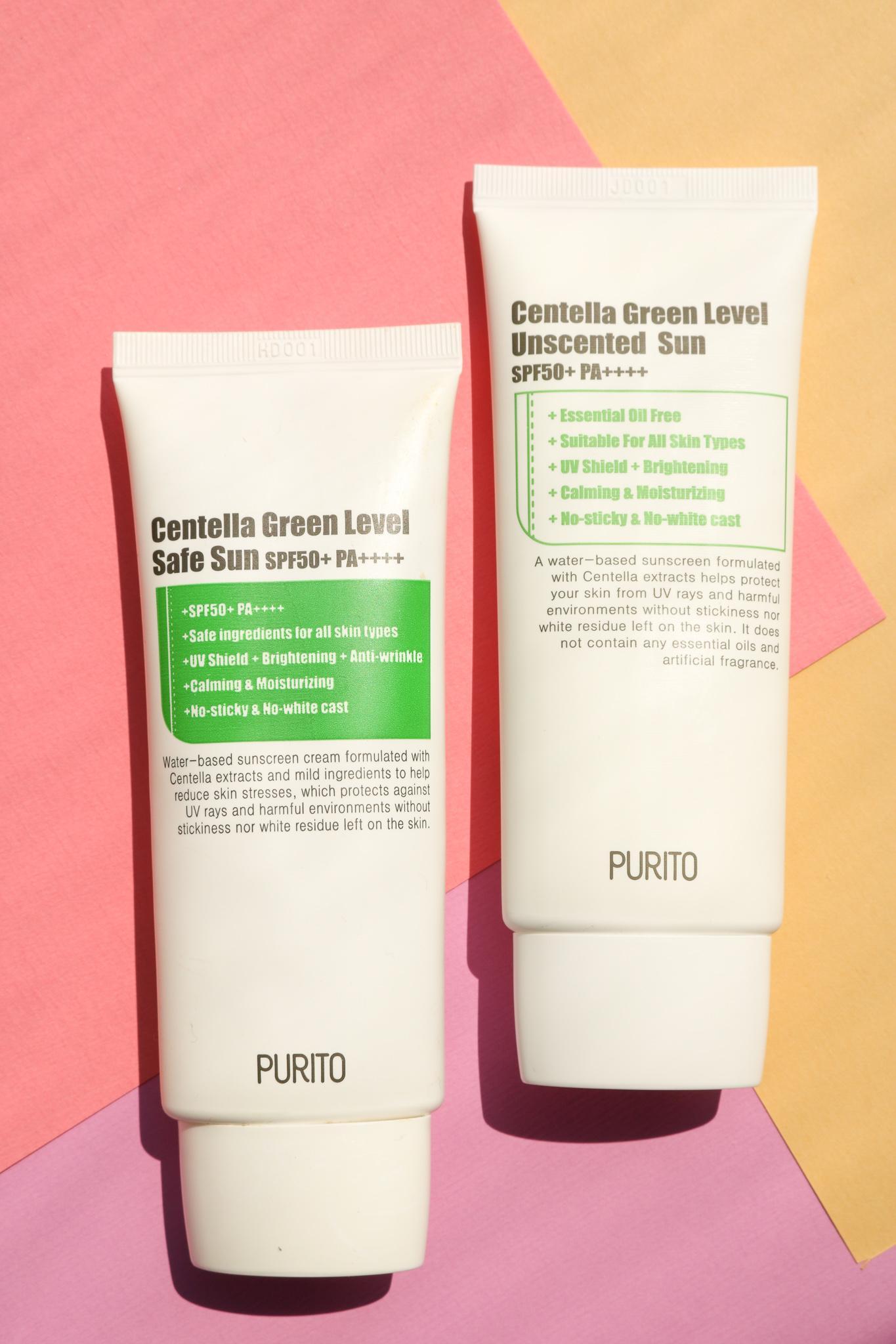 purito green level unscented sun zonnebrand