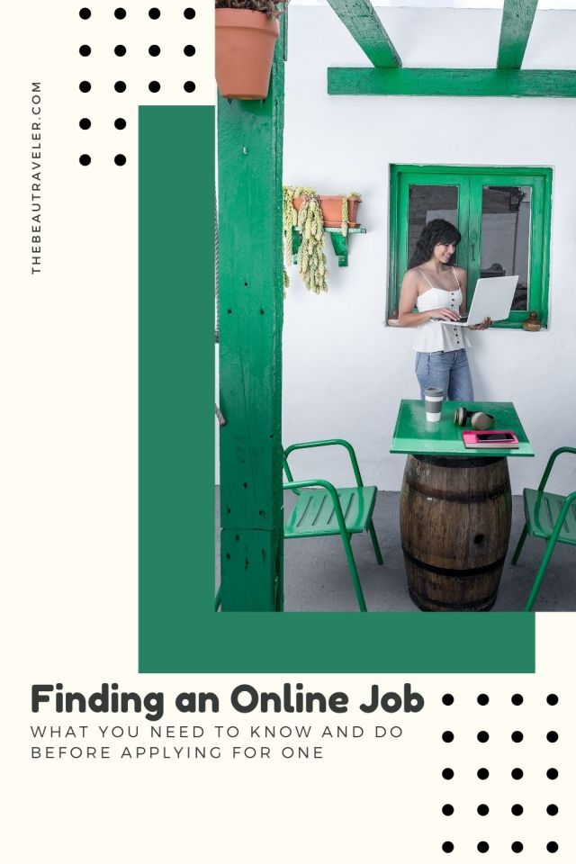 What You Need to Do Before Applying for an Online Job - The BeauTraveler