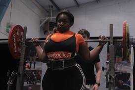 Arlette Bomahou during National Powerlifting competition in February 2015