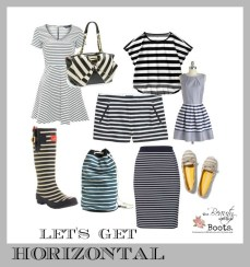 resist the uber trendy chevron in favor of timeless horizontal stripes from dresses to rain boots