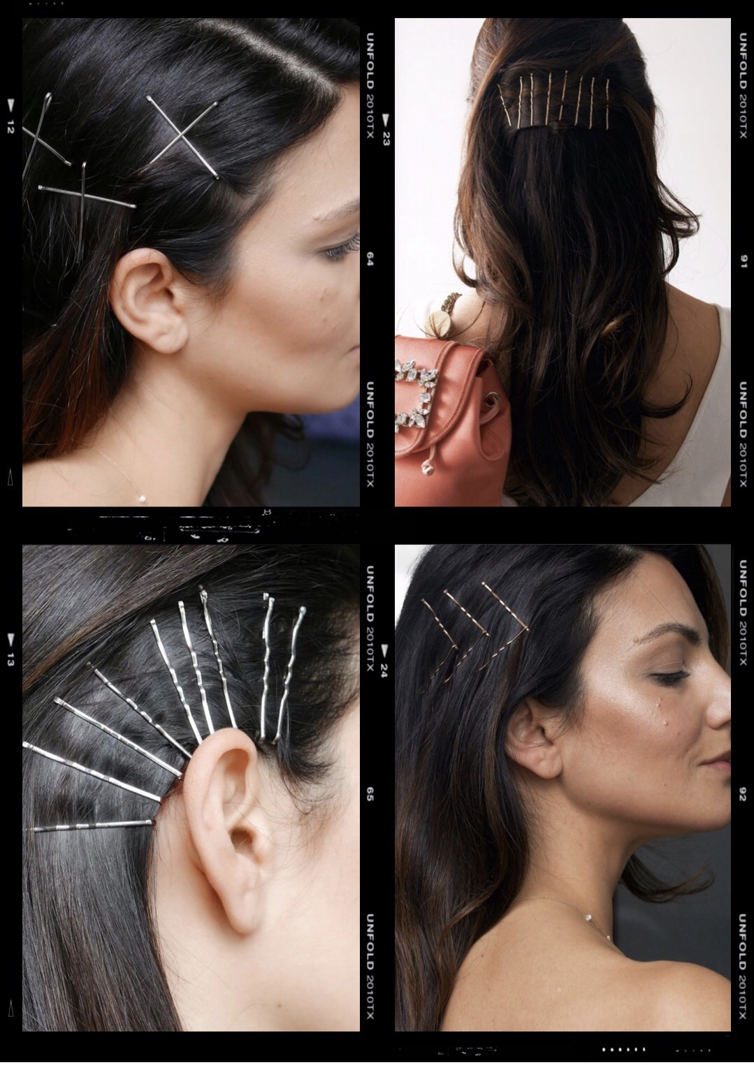 grown up bobby pin hairstyles
