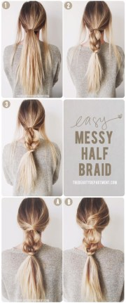 easy messy braid beauty