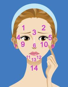 Face mapping acne zits pimple spots solutions skincare beauty also what is your telling you the gypsy rh thebeautygypsy