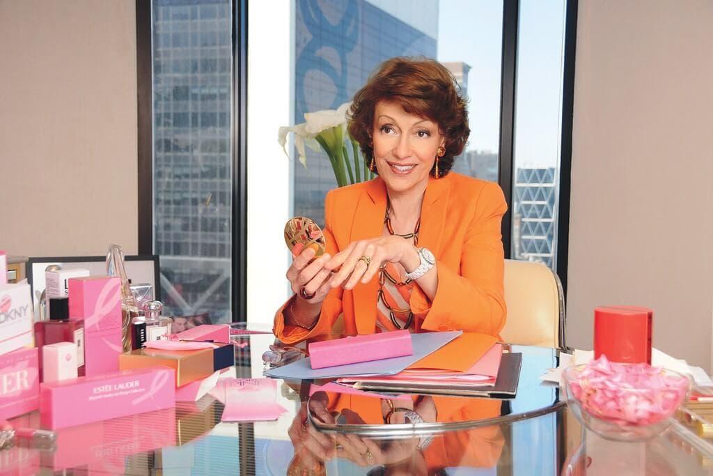 breast cancer, pink ribbon, think pink, lit up in pink, Estee Lauder, Evelyn Lauder, global illumination