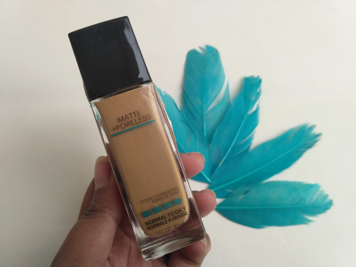 Maybelline Fit Me Matte Poreless Foundation Golden Caramel | Review