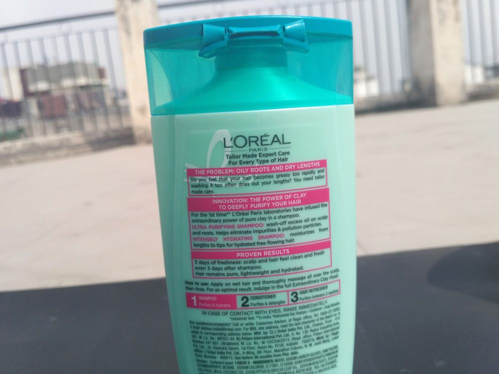 L'Oreal Paris Extraordinary Clay Purifying & Hydrating Shampoo Review