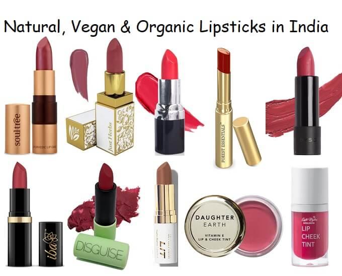 Best Vegan,Natural & Organic Lipsticks in India