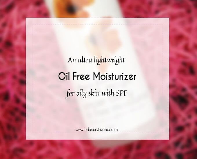 Oil free moisturizer for oily skin with SPF Review