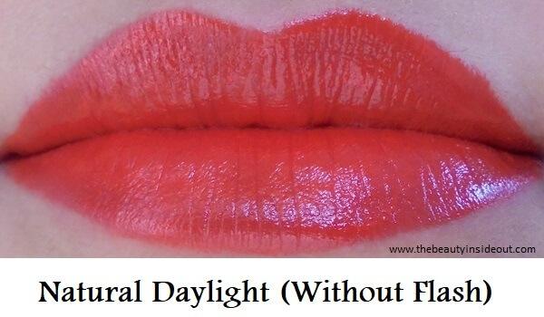 Coloressence Premia Lipstick 211 Bombshell Lip Swatch 2