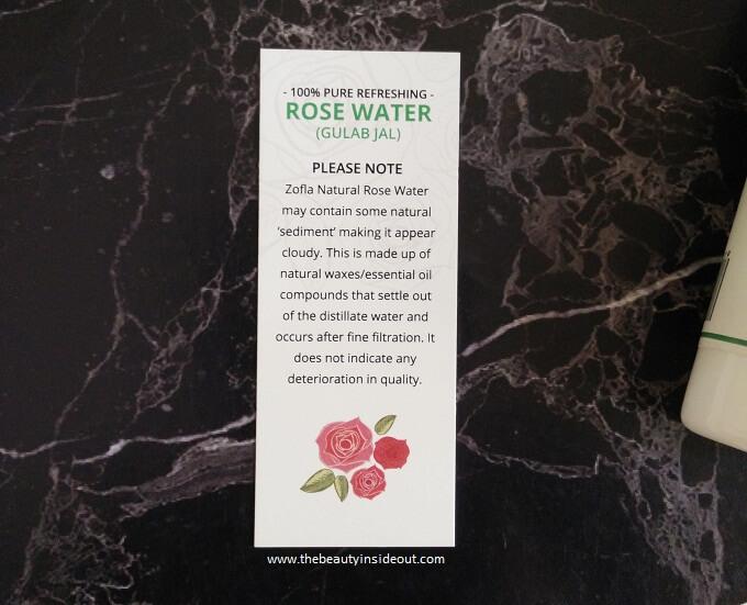 Zofla Rose Water