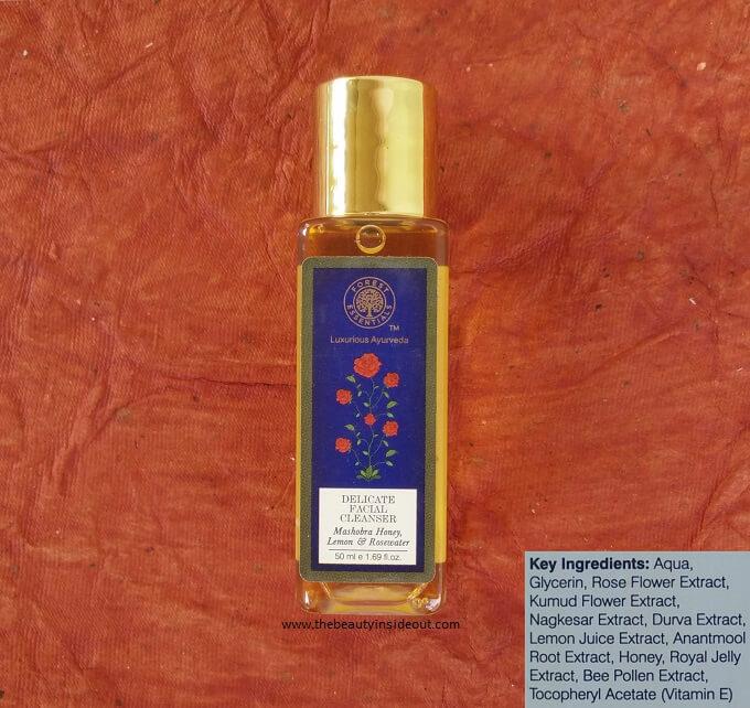 Forest Essentials Delicate Facial Cleanser Mashobra Honey, Lemon & Rose Water