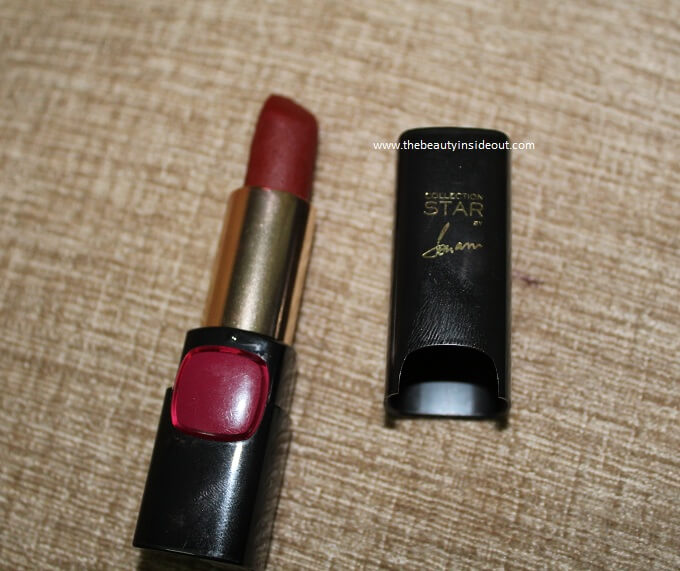 L'Oreal Paris Collection Star Pure Garnet Lipstick