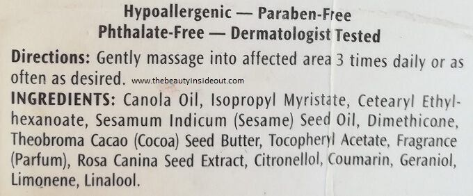 Palmer's Skin Therapy Oil Ingredients