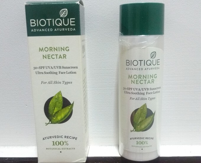Biotique Bio Morning Nectar Ultra Soothing Face Lotion SPF 30