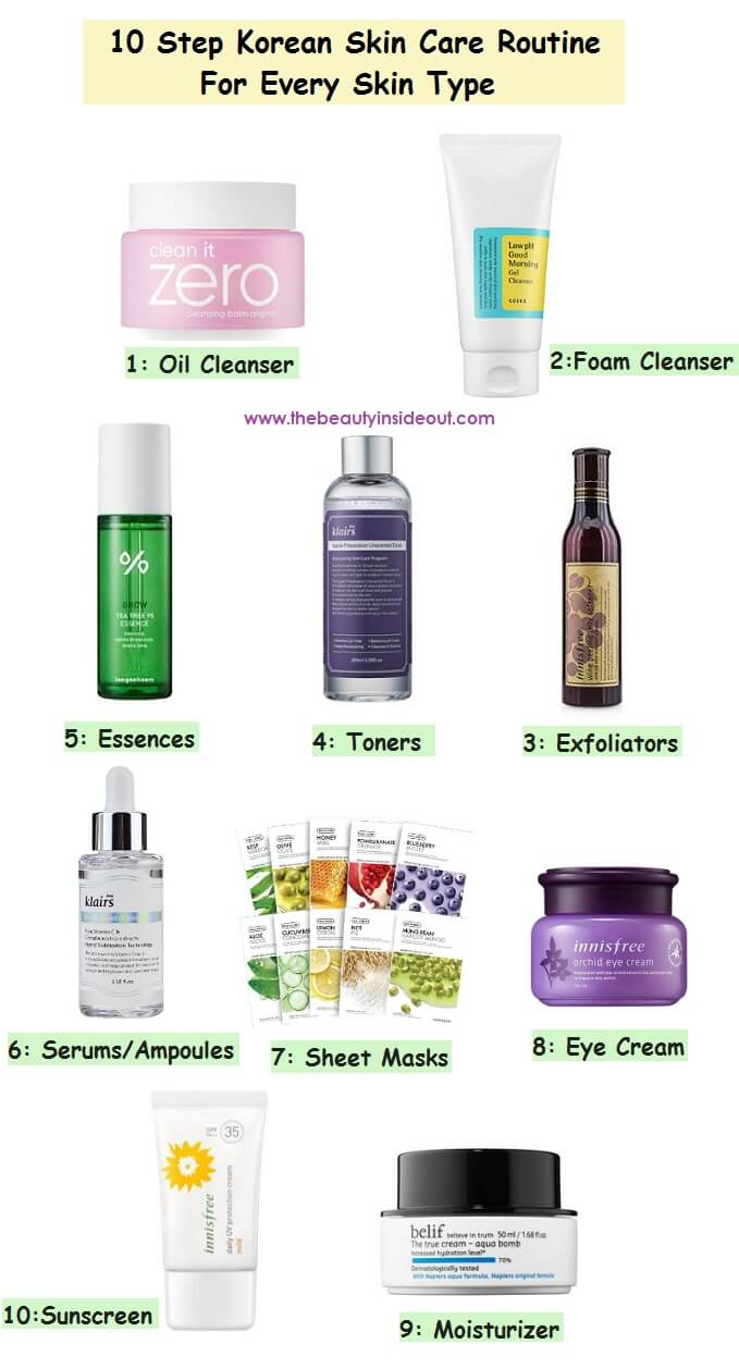 10 Step Korean Skin Care Routine