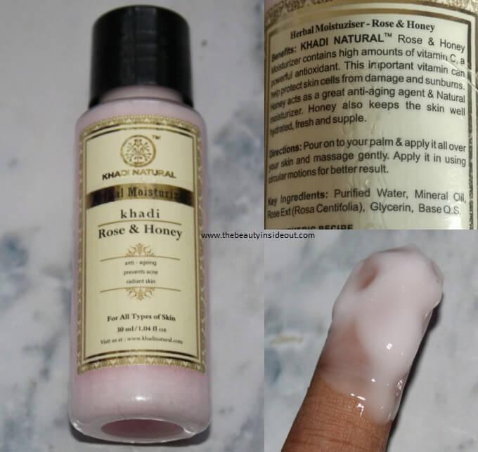 Khadi Natural Rose & Honey Moisturizer