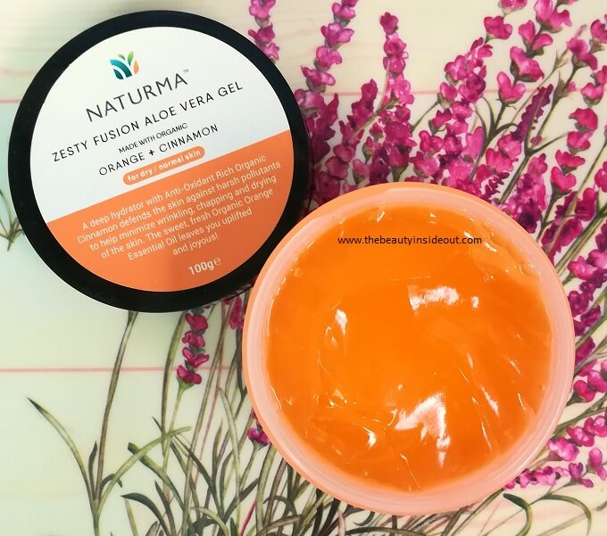 Naturma Hydrating Cinnamon & Orange Gel