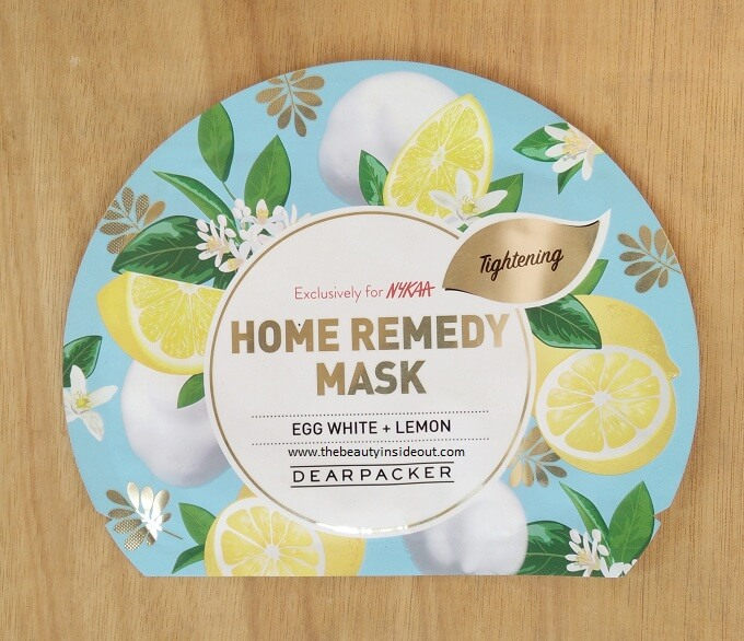 Dear Packer Home Remedy Sheet Masks - Egg White & Lemon