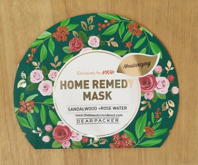 Dear Packer Home Remedy Sheet Mask - Sandalwood & Rose Water