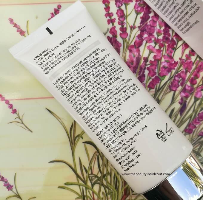 How to use Klairs Soft Airy UV Essence