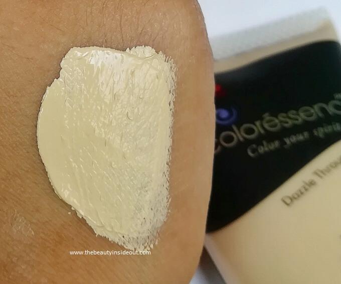 Coloressence Aqua Makeup Base Swatch Ivory