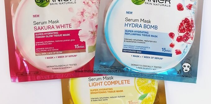 Garnier Sheet Masks