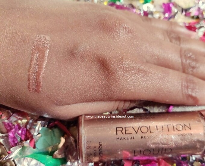 Makeup Revolution Highlighter Swatch