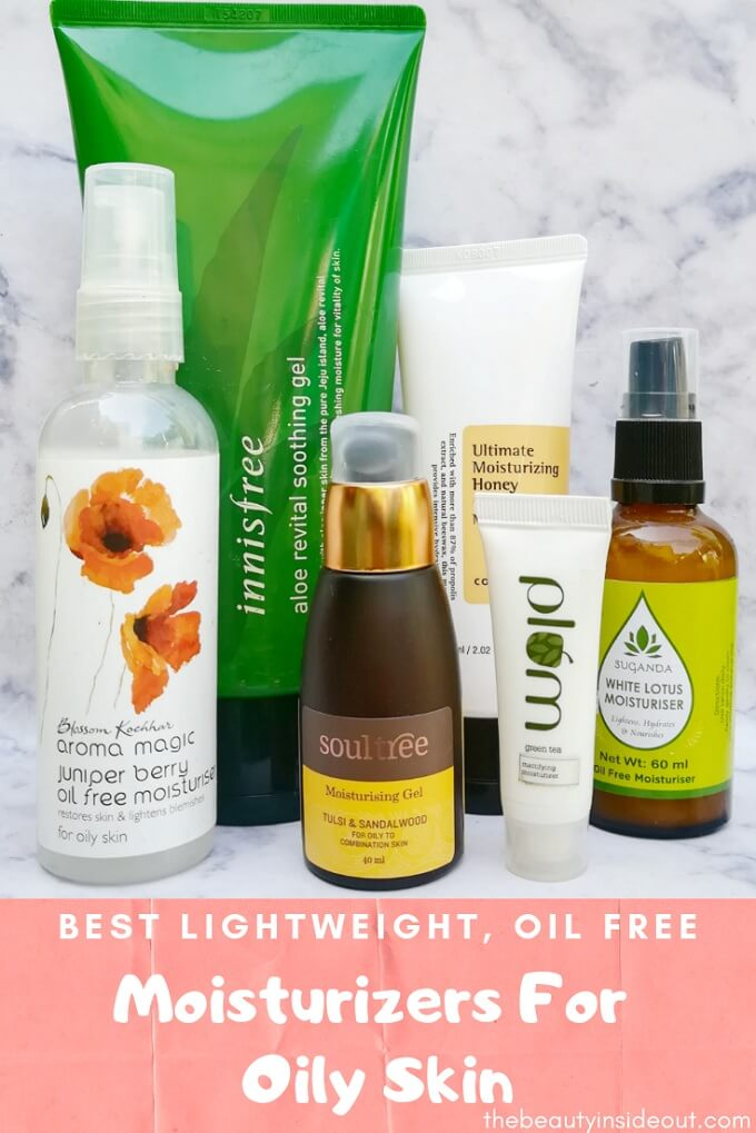 Best Oil Free Moisturizers For Oily Skin in India