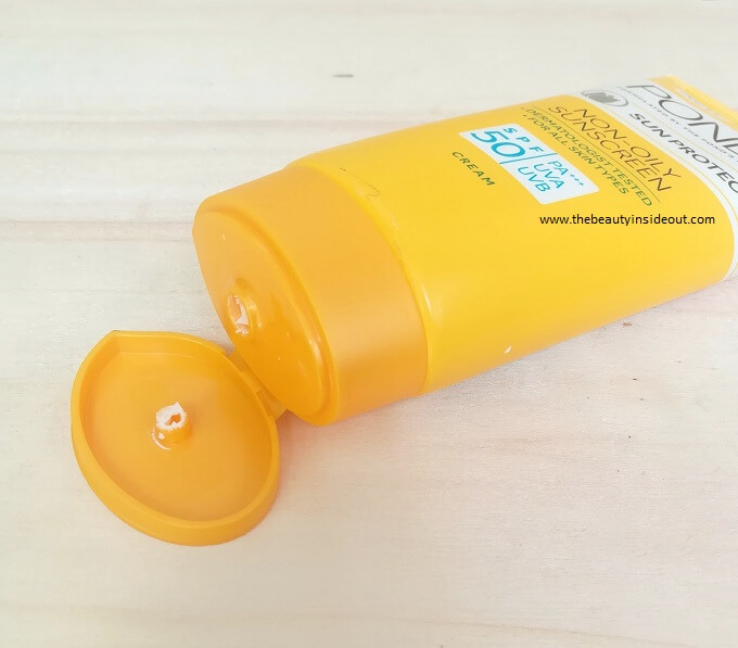 Ponds Non Oily Sunscreen Packaging