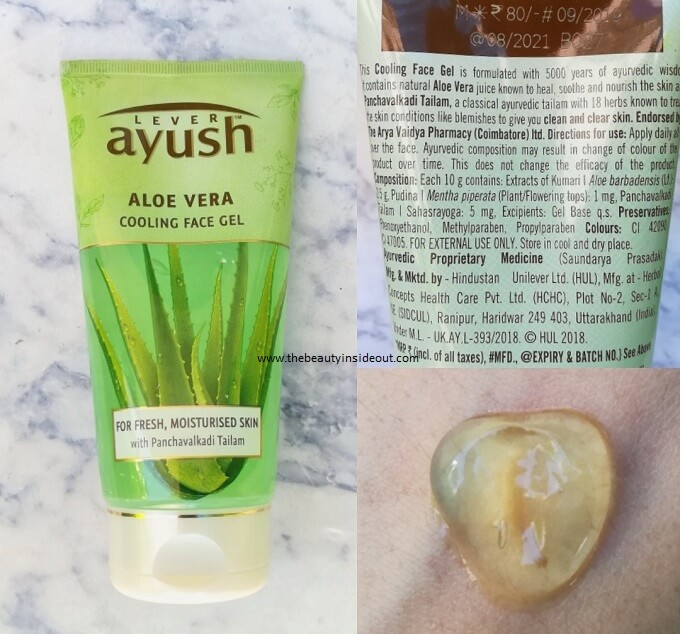 Lever Ayush Aloe Vera Cooling Face Gel