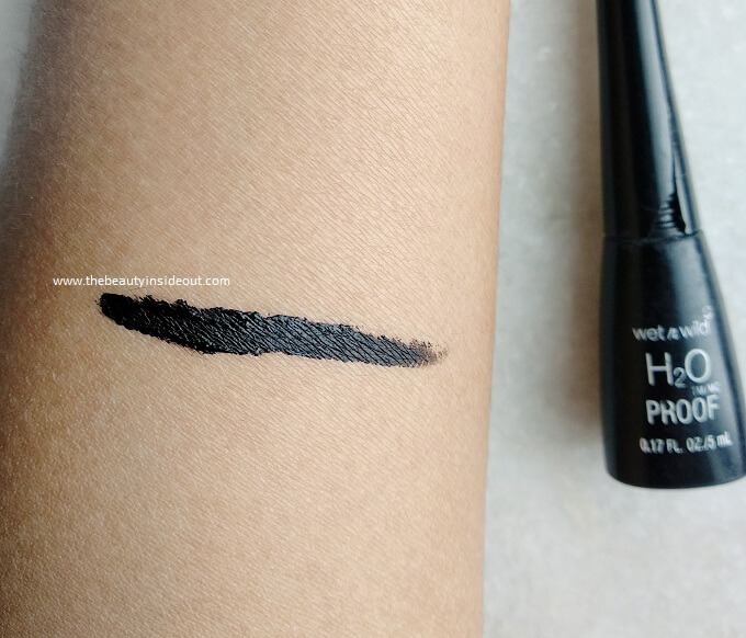 Wet n Wild H20 Proof Liquid Eyeliner Swatch