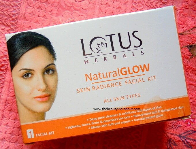 Lotus Herbals Natural Glow Skin Radiance Facial Kit Review