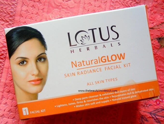 Lotus Herbals Natural Glow Skin Radiance Facial Kit Review
