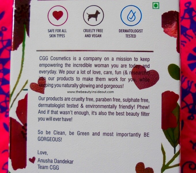CGG Cosmetics Serum Description