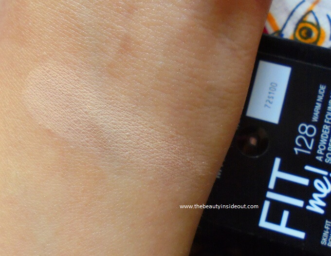 Maybelline Fit Me! Powder Foundation 128 Warm Nude Swatches