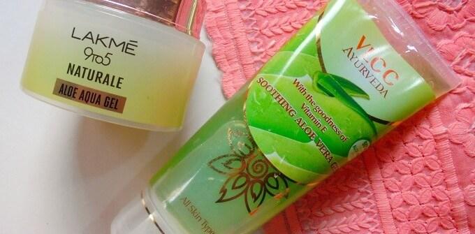 VLCC & Lakme Aqua Aloe Gel Comparison Review