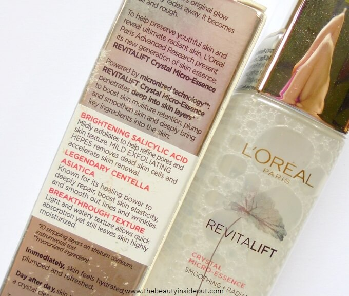 L'Oreal Paris Revitalift Crystal Micro Essence Product Claims