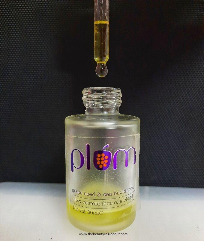 Plum Grape Seed And Sea Buckthorn Glow Restore Face Oils Blend Packaging