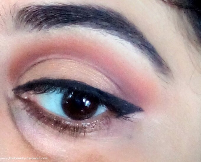 Swiss Beauty Ultimate Shadow Palette 04 Look 1