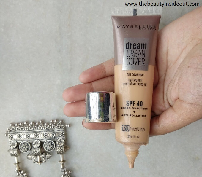 Maybelline Urban Cover Foundation Packaging