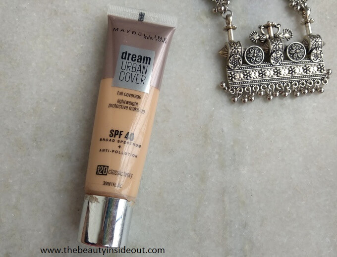 Maybelline Urban Cover Foundation Review