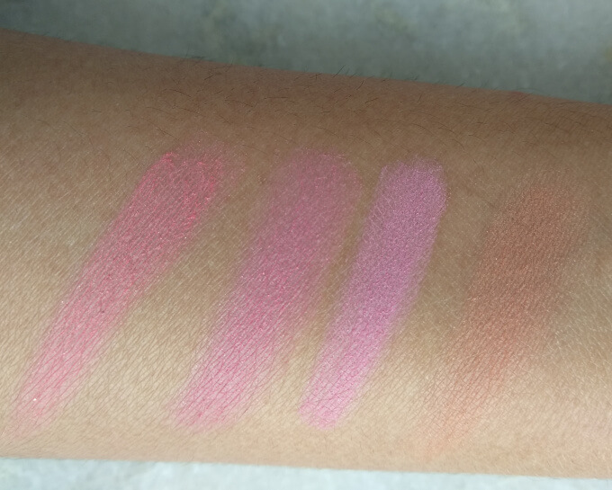 Elf Powder Blush Palette Light Swatches