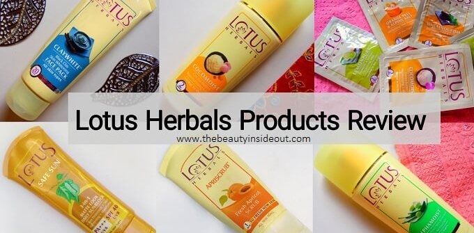 Lotus Herbals Products Review