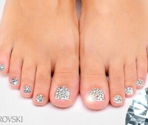 Swarovksi Crystal Pedicure