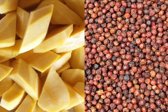 Mango and red Kampot pepper