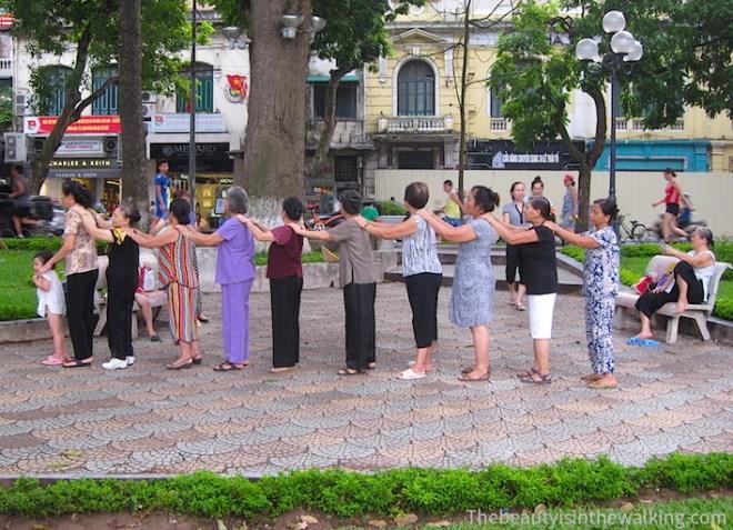 Gym au bord du lac Hoan Kiem, Hanoi