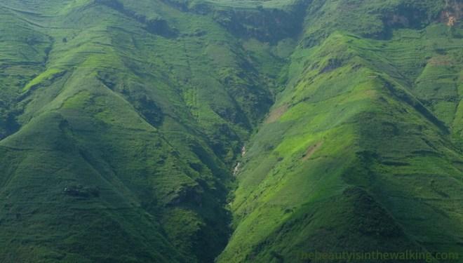 Montagnes vertes